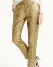 NWT JCREW Ludlow Pant in Gold Linen Size4 B6518 SOLD-OUT!