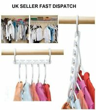 MULTI FUNCTION CLOTHES 8 HANGERS SAVING SPACE CLOSET ORGANIZER MAGIC WONDER RACK