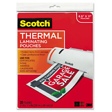 Scotch Letter Size Thermal Laminating Pouches 3 mil 11 1/2 x 9 20/Pack TP385420