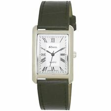 Ravel Faux Leather Strap Polished Wristwatches