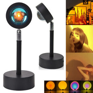 Sunset Projector Lamp Rainbow USB Led Floor Light Decor Atmosphere night light