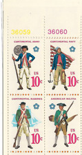 Scott #1565-68 Continital Army, Navy, Marines & Malitia Postage Stamp Sheet