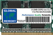 512MB DDR2 400/533MHz 172-PIN MICRODIMM MEMORY RAM FOR LAPTOPS/NOTEBOOKS