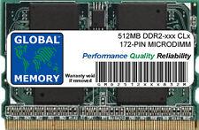 512 Mo DDR2 400/533MHz 172-PIN MICRODIMM Mémoire RAM pour ordinateurs portables