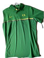 Nike Elite Dri-fit University Of Oregon Ducks Polo Shirt Size Large Green