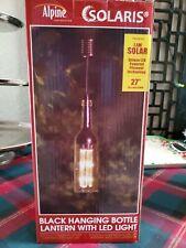 Christmas Hanging Bottle Lantern w/Led solar Light