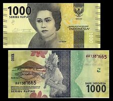 Indonesia 1000 Rupiah  Banknote Currency UNC ( New Issue ) #606