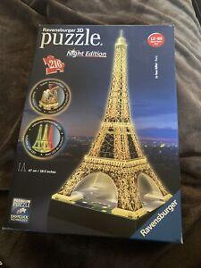 Ravensburger 3D Puzzle Night Edition La Tour Eiffel Paris