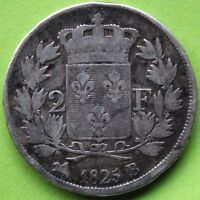 FRANCE 2 FRANCS CHARLES X 1825 B