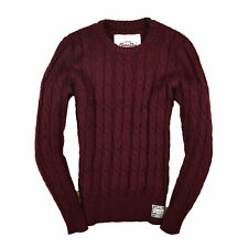 Superdry señores suéter Sweater punto talla M Orange Label vino rojo 87583
