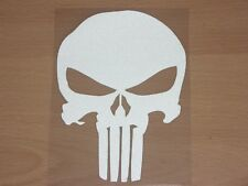 PUNISHER Skull Film Classic Car Motorcycle Silver Finish Decal Sticker