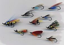 Sea Trout Flies: x 10: On size 8 & 10 Single Salmon Hooks Assorted (Code 424)