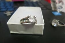 SQUARE ENGAGEMENT RING SIZE 7 Sig-nity diamond (lab-created)