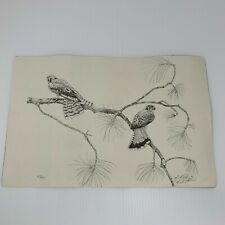 Harris Hawk Bird Print Numbered Signed 1996 Artist Signed 85 of 100 Limited Ed