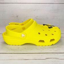Crocs Yellow Unisex Lightweight Coast Clogs Womens 7 - 10 Mens 5 - 8