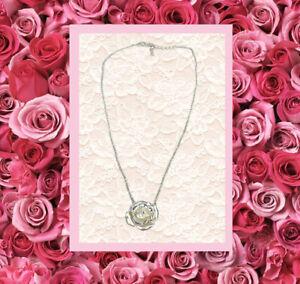 ConMiGo London P010030 'Silver' chain with rose pendant