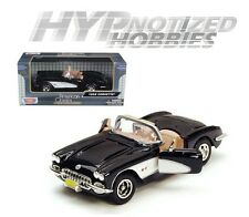 MOTOR MAX 1:24 1959 CHEVROLET CORVETTE DIE-CAST BLACK 73216