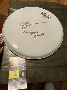 Autographed Steve Gorman Drumhead 12-Inch The Black Crowes JSA Certified Signed