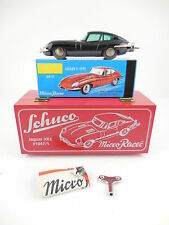 Schuco Micro Racer 1047/1 Jaguar XKE Black Limited Ed Wind Up Car New in Box