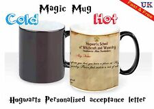 HEAT COLOUR CHANGING MAGIC MUG / CUP - HARRY POTTER HOGWARTS PERSONALISED LETTER