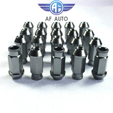 Titanium 20 pcs M12x1.5 Racing Wheel Rim Lug Nuts For Honda Ford Toyota
