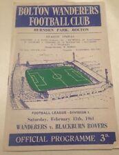 First Division Home Teams A-B Football Programmes