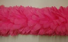 "2 Yard Feather TURKEY BOA - HOT PINK 6-8"" Feathers (Halloween/Costume/Bridal)"