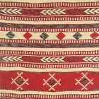 "VTG Geometric Hand Woven Woool Fiber Art Wall Tapestry Hungarian 43x15"" Unused"