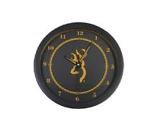 Browning Buckmark Wall Clock - Black & Gold
