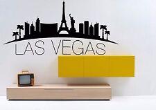 Wall Vinyl Sticker Decal Skyline Horizon Panorama City Las Vegas USA World F1760