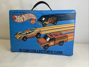 Vtg  HOT WHEELS Mattel 12 Car Collector's Case