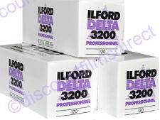 3 x ILFORD DELTA 3200 120 Roll CHEAP B&W CAMERA FILM by 1st Class Post