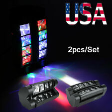 2x80W RGBW LED Spider Moving Head Stage Lighting Beam DMX Disco Party DJ Lights