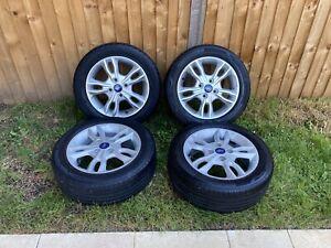 2015 ford fiesta 15 inch alloy wheels & Tyres X4