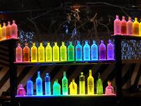 MULTICOLOR BOTTLE BAR GLORIFIER DISPLAY BOTTLE GLOW LIGHT UP BOTTLE VIP -10 PACK