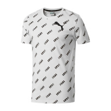 Puma Men's Crew Neck Short Sleeve T-Shirt White/Black Size S New with tag