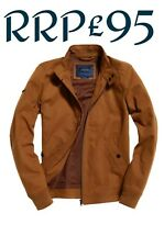 NEW RRP£95.00 MENS XL SIZE SUPERDRY IE ICONIC HARRINGTON WINTER JACKET TOBACCO