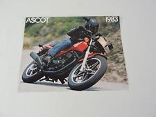 NOS 1983 Honda Ascot FT500 Dealer Brochure L163