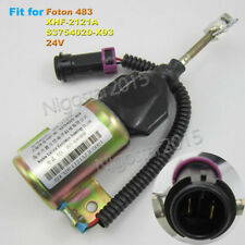 Diesel Fuel Shut Off Stop Solenoid Valve XHF-2121A 24V for Foton 483 Engine