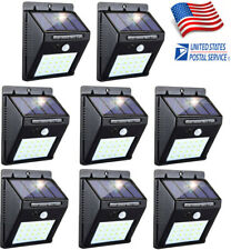 8PK 20 LED Solar Power Light PIR Motion Sensor Garden Security Wall Lamp Outdoor