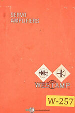 Westamp Servo Amplifiers A-486 Operations Electrical and Parts Manual