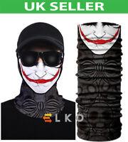 Multiuse Clown Mask Balaclava Neck Tube Warmer Snood Scarf Face Mask Halloween
