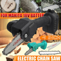 """4"""" Electric Chain Saw One-Hand Wood Cutter Cordless Body For Makita 18V Battery"""