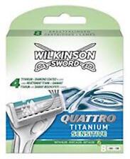 Wilkinson SWORD QUATTRO TITANIUM sensible Recarga Cartuchos 8 Pack de hoja de afeitar