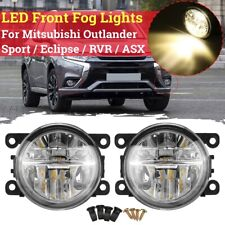 Pair Front Fog Light Lamps For Mitsubishi Outlander Sport / Eclipse / RVR / ASX