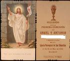 ESTAMPA PRIMERA COMUNION PARROQUIA SAN SEBASTIAN MADRID MAYO 1933 HOLY CARD C428