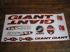 Giant Stickers Black, Orange & Silver. XTC SE1