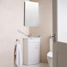 600x300mm Bathroom Corner Cabinet Stainless Steel Mirror Storage Wall Cupboard