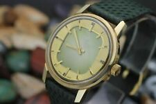 *NOS* Vintage WITTNAUER Gold Plaque T.V. Dial Men's Dress Watch Full Set