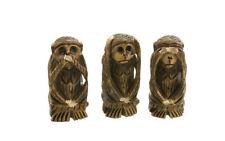 3 singes de la Sagesse collection animaux en bois Peterandclo H7.5CM 7689